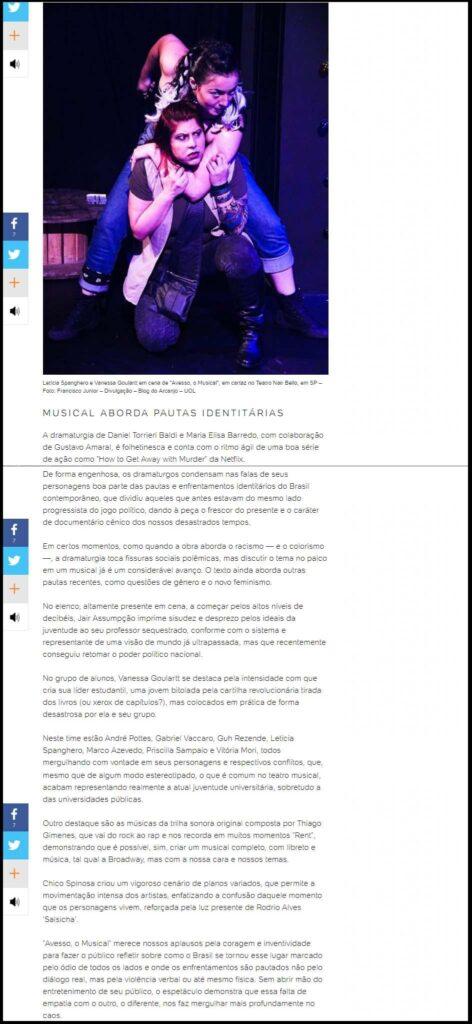 """Eletrizante, """"Avesso"""" reflete guerra política no Brasil"""