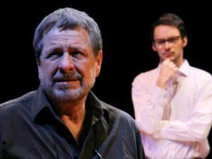 """Flávio Galvão e Antonio Motta na peça """"O Semeador"""""""