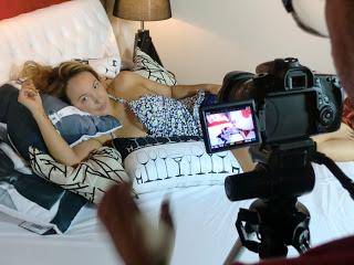 """Gravação do videoclipe da música """"Tenho Medo"""", de Paula Bressann."""