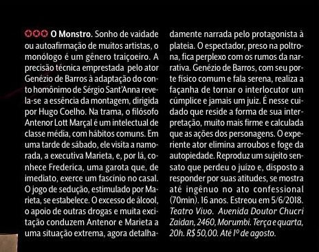Genezio de Barros em O Monstro
